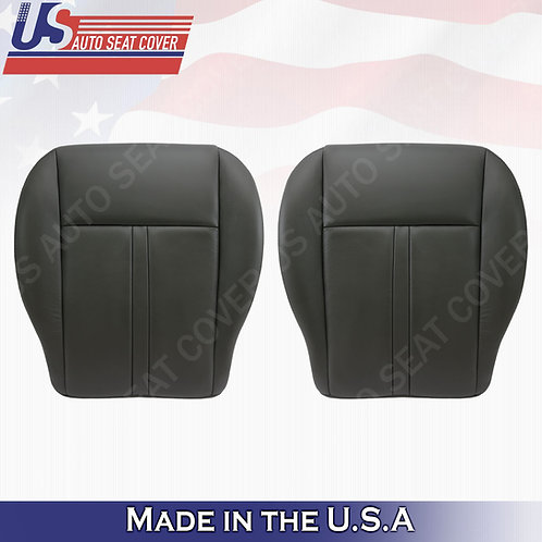 2005-2007 Jeep Grand Cherokee Driver  & Passenger Bottom Leather cover black
