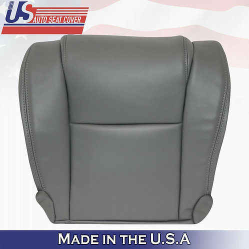For 2007 -2013 Toyota Tundra WORK TRUCK Driver Bottom Vinyl Seat Cover GRAY