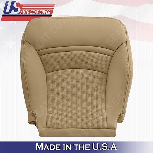 1997-2004 Chevorlet Corvette Passenger Bottom Perforated Leather Seat Cover Tan