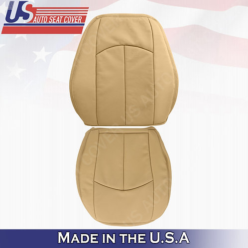 For 2007-2009 Mercedes-Benz E350 Top & Bottom Perforated Leather Cover Dark tan