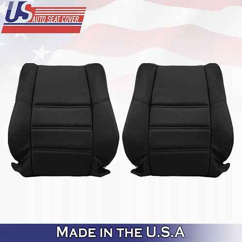 2001-2004 Nissan Pathfinder Driver & Passenger top LEATHER PERFORATED in Black