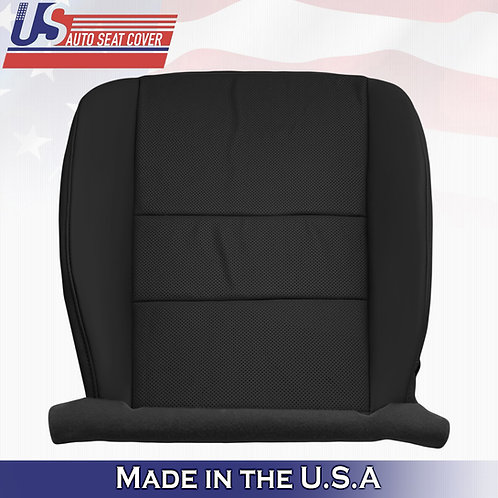 For 2009-2014 Acura TSX Driver Bottom Perforated Leather Seat Cover Black