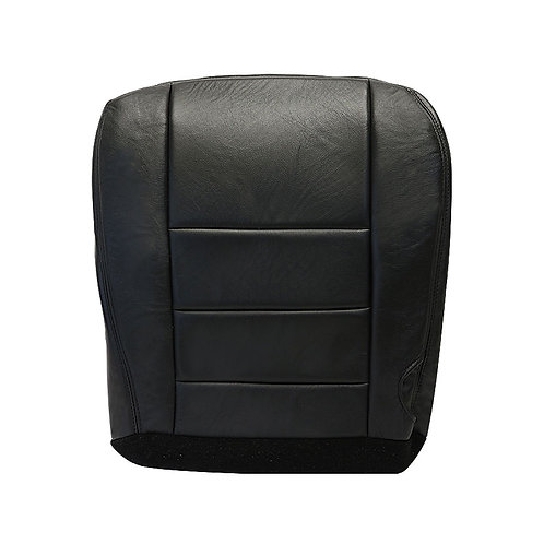 2002 2003 2004 2005 2006 2007 Ford F250 350 Driver Bottom Leather Seat Cover Blk