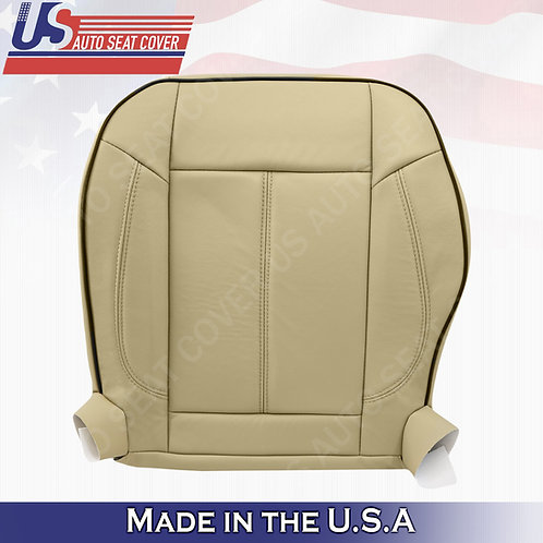 2006 to 2010 Hummer H3 Driver Bottom Replacement Leather Seat Cover Tan