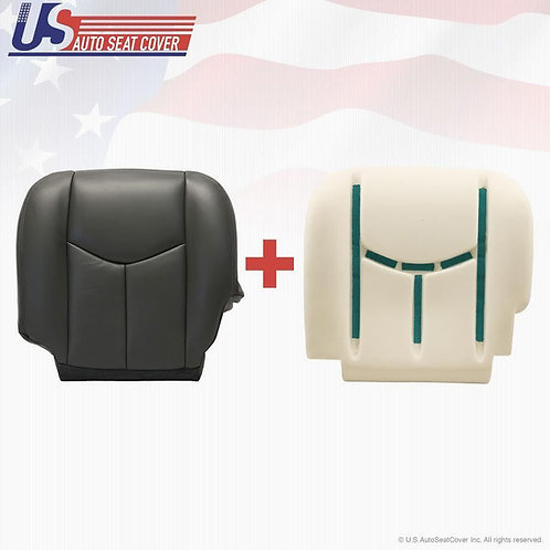 2003-2006 Chevy Silverado Driver Bottom Seat Cover + Foam Cushion Dark Gray
