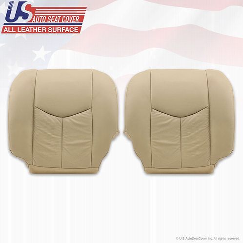 2003-2006 Cadillac Escalade Front Bottoms Leather Perforated Cover Shale Tan