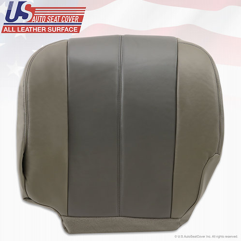 2002 GMC Yukon Denali Driver Bottom 2 Tone Gray Leather seat cover