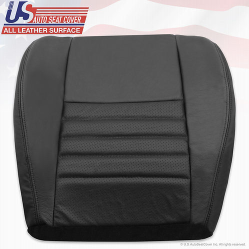 1998-2004 Ford Mustang Passenger Bottom Perforated Leather Seat Cover Black