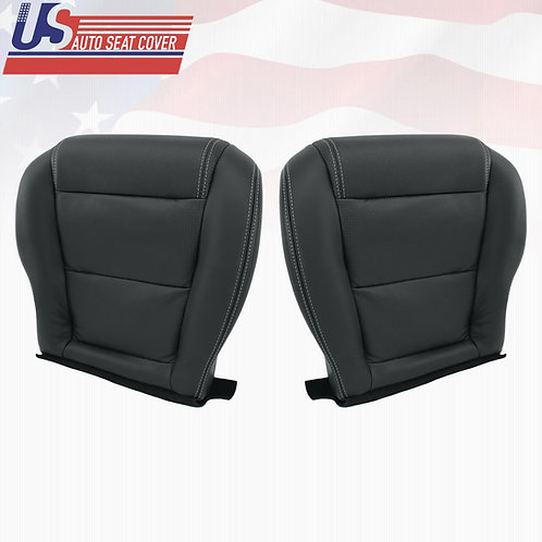 2001-2006 ACURA MDX DRIVER PASSENGER BOTTOM PERFORATED LEATHER SEAT COVER EBONY