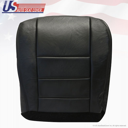 2002 -2007 Ford F250 350 Passenger Bottom Leather Seat Cover Black