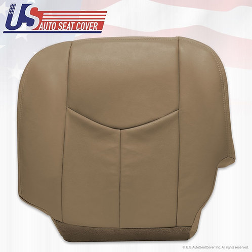 2003-2006 Chevy Silverado 1500 HD Driver Bottom Passenger Leather Seat Cover Tan