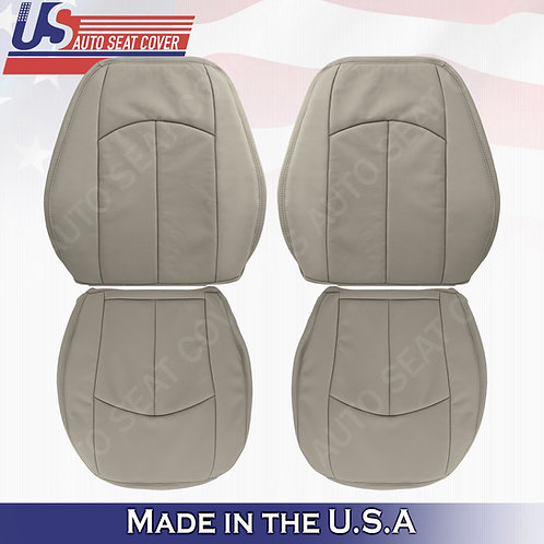 For Top/Bottom Seat cover Perforated Leather Black For 2003-2009 Mercedes-Benz