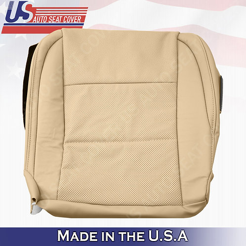Passenger Bottom Perforated Tan Leather Seat Cover for 2013-2017 Lexus ES350
