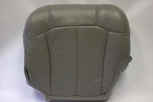 1999-2002 Chevy Truck Driver Bottom Replacement Leather Seat Cover Pewter Gray