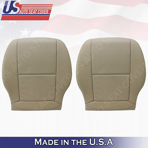 For 2008-2014 Mercedes Benz C250 300 SPORT FRONT BOTTOMS Leather Cover Beige