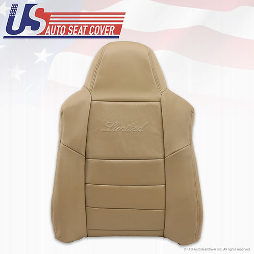 2002-2004 Ford Excursion Limited Passenger top Leather Seat Cover Tan