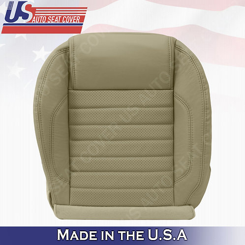 2010 to 2014 Ford Mustang GT Driver Bottom Perforated Leather Seat Cover Tan