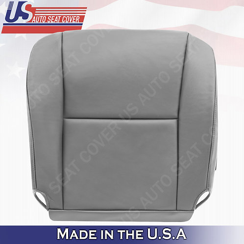 2005 2006 Toyota Tundra, Sequoia Driver Side Bottom Leather Seat Cover Gray