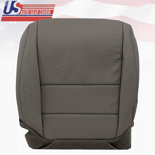 2004 -2008 Acura TL PASSENGER Bottom Perforated Leather Replacement Cover GRAY