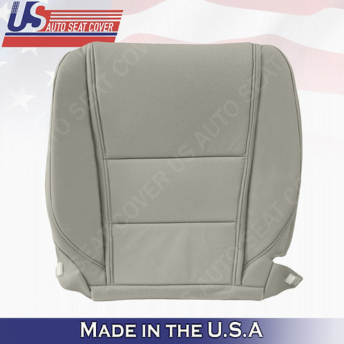 For 2009-2014 Acura TL Base Driver Bottom Perforated Leather Seat Cover GRAY