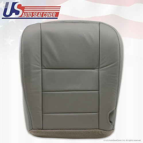 2002 - 2007 Ford F-250 Lariat Driver Bottom Leather Seat Cover Gray