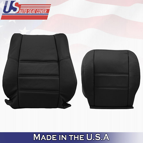 2001-2004 Nissan Pathfinder Top & Bottom LEATHER PERFORATED in Black