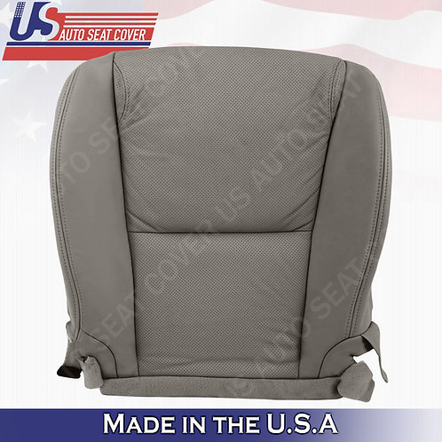 For 2006-2011 Lexus GS350 Driver Bottom Perforated Leather Seat Cover Gray