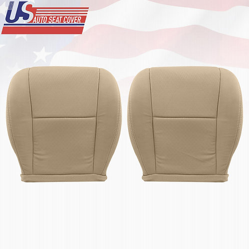 2007-2014 GMC Sierra Driver-Passenger Bottoms Cloth Seat Covers Tan