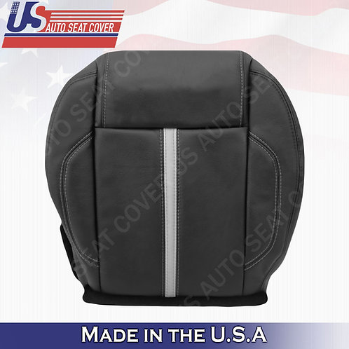 2010-2014 Ford Mustang Gt Driver Bottom Leather Seat cover Black