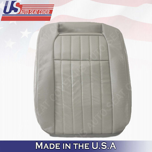 1994 1995 1996 Chevy Impala SS Driver Top Leather Perforated Seat Cover Gray