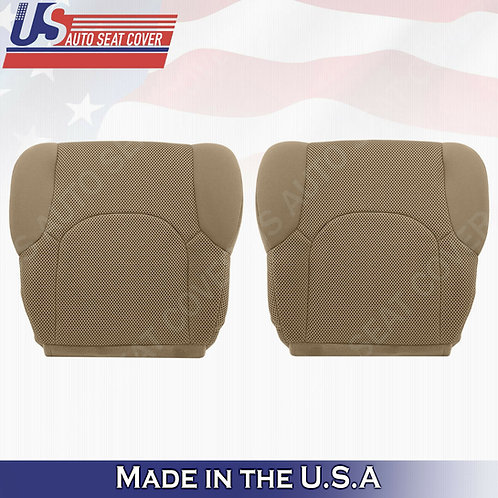 2005- 2019 Front Bottoms Tan Cloth Seat Covers FITS: Nissan Frontier S, SV, XE