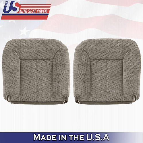 1995-1999 GMC Sierra Driver & Passenger Bottom Cloth in Tan Seat Cover