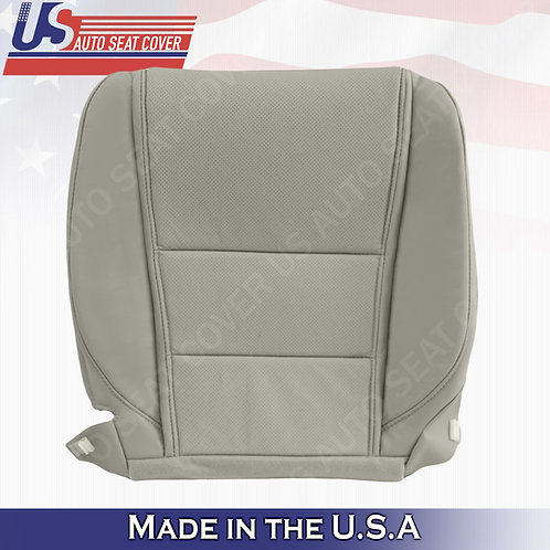 Passenger Bottom Perforated Leather Cover Gray for 2009 to 2014 Acura TL
