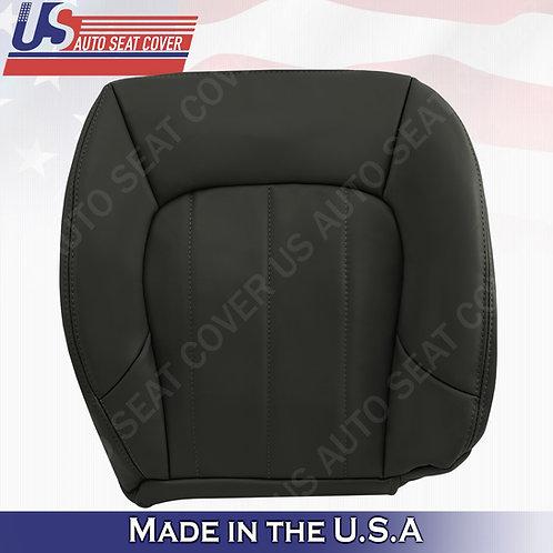 2002-2009 GMC Envoy SLT Passenger Bottom Leather Seat Cover Dark Gray
