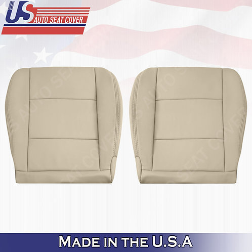 1998-2004 Toyota Land Cruiser Driver Passenger Bottom Leather Seat Cover in Tan