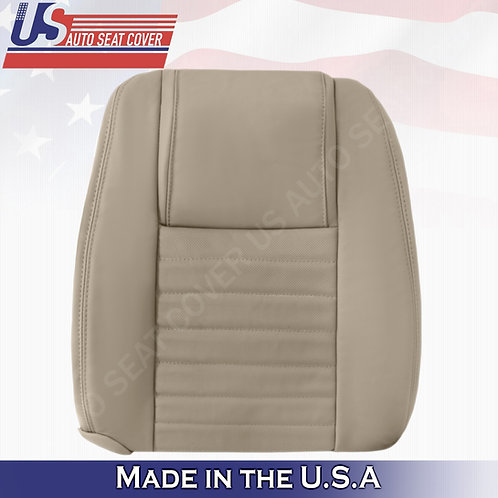 2005-2009 Ford Mustang Passenger Lean Back Cover in Tan (PERFORATED)