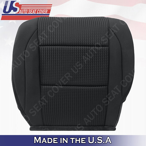 2005-2015 Nissan Armada Driver bottom Cloth in black seat cover