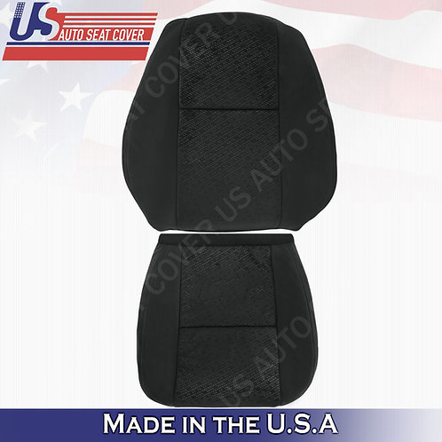 2007 2008 Chevy Silverado Top and Bottom Cloth Seat Cover Black