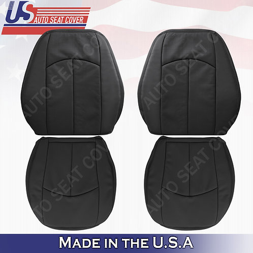 For 2006-2009 Mercedes-Benz E350 Top/Bottom Perforated leather Cover Black