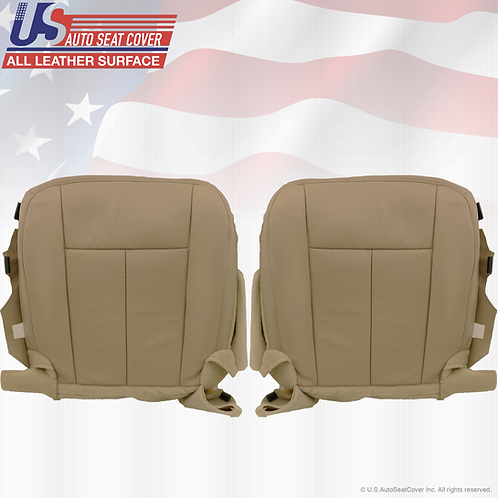 2011-2014 Ford Expedition Driver-Passenger Bottom Perforated Leather Cover Tan