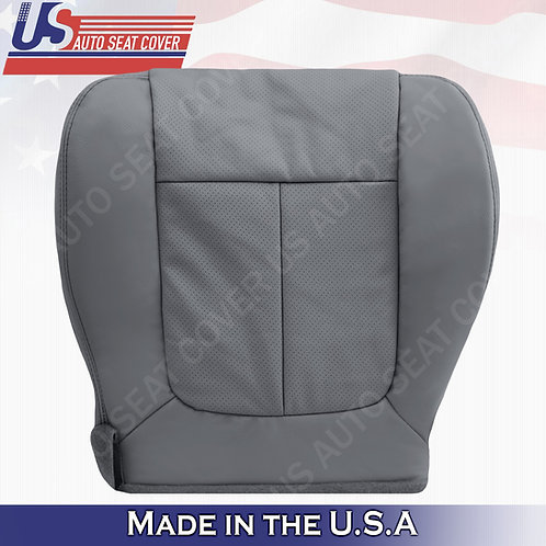 2011 - 2014 Ford F150 Lariat Passenger Bottom leather Perforated seat cover Gray