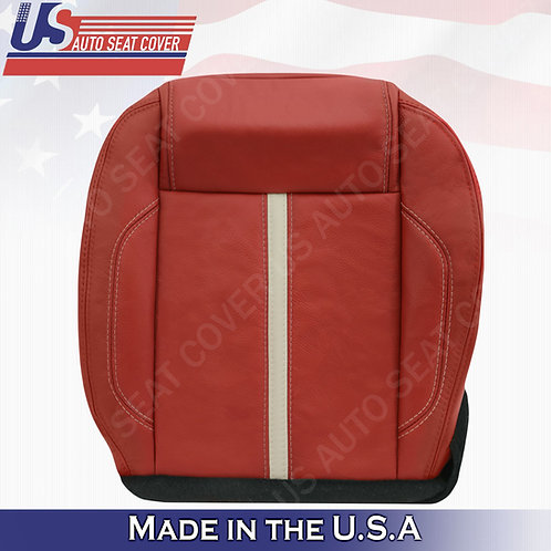 2010-2014 Ford Mustang Gt Passenger Bottom Leather Seat cover Brick Red