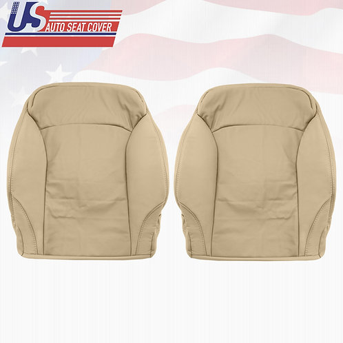 2006-2013 LEXUS IS250 DRIVER & PASSENGER TOP PERFORATED LEATHER SEAT COVER TAN