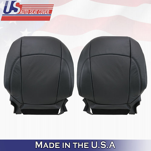 For 2007-2012 Lexus ES350 Driver & Passenger Top Perf Leather Seat Cover Black