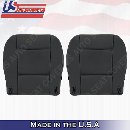 Fits 2003 to 2006 BMW X5 Driver & Passenger Bottom Leather Seat Cover Black