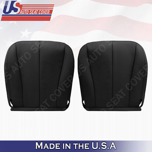 For 2007-2011 Toyota Camry Driver Passenger Bottom Leather Seat Cover Black