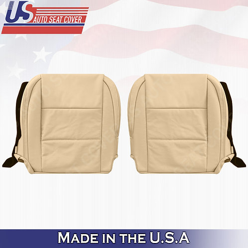 Fits Driver & Passenger Lexus ES350 Perforated leather bottom seat cover tan