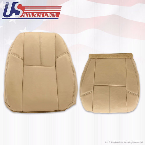 2007-2014 Chevy Silverado 1500 Driver Bottom & Lean Back Leather Seat Cover Tan