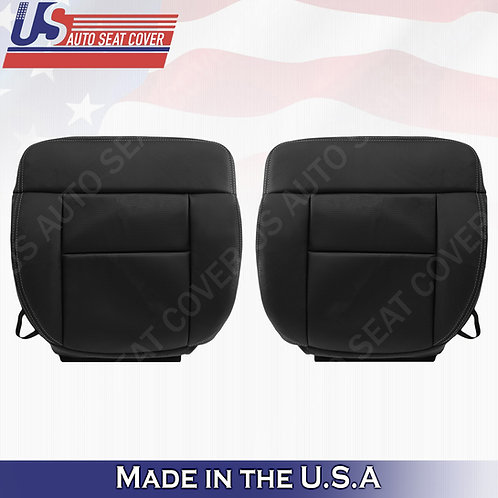 2004-2008 Ford F150 FX4 Lariat Bottom TEXTURE-PERFORATED Leather Seat Cove Black