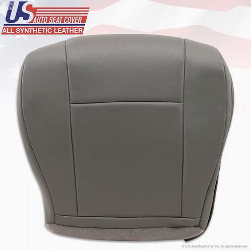 2003-2008 Ford Van E150 Passenger Bottom Perforated leather seat cover Gray
